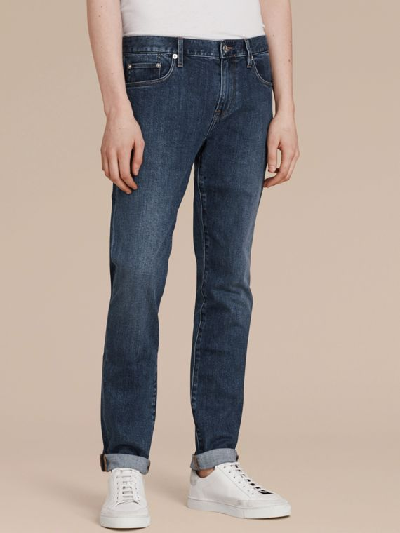 Mid indigo Slim Fit Japanese Denim Jeans - cell image 3