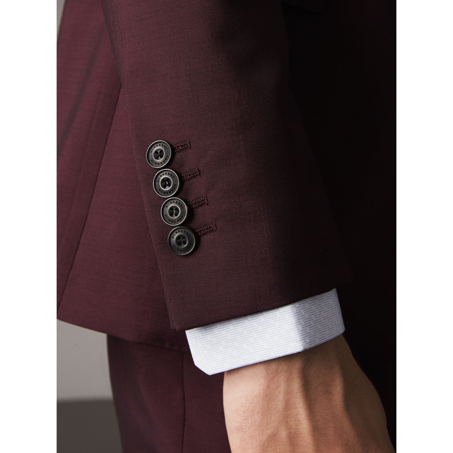 Soho Fit Wool Mohair Suit in Oxblood - Men | Burberry - gallery image 1