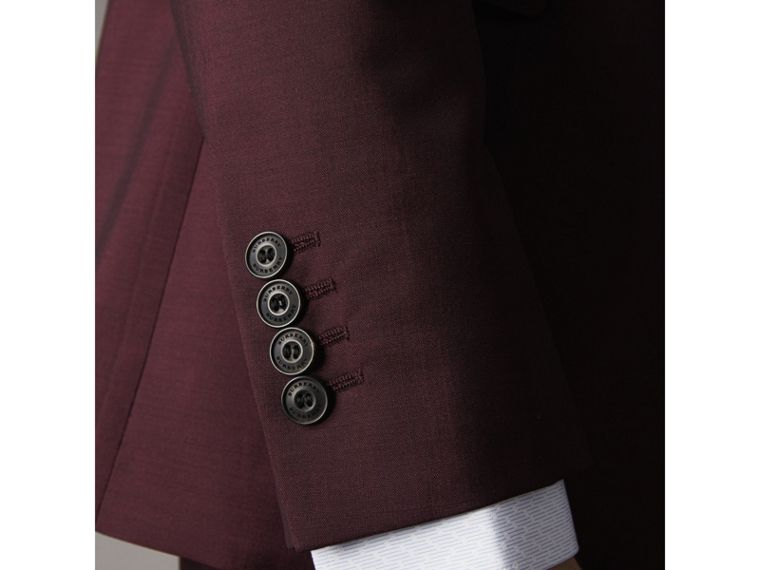 Soho Fit Wool Mohair Suit in Oxblood - Men | Burberry - cell image 1