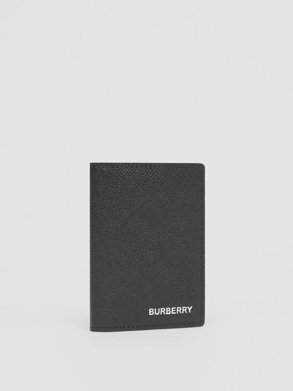 Grainy Leather Folding Card Case in Black - Men | Burberry Singapore - cell image 3