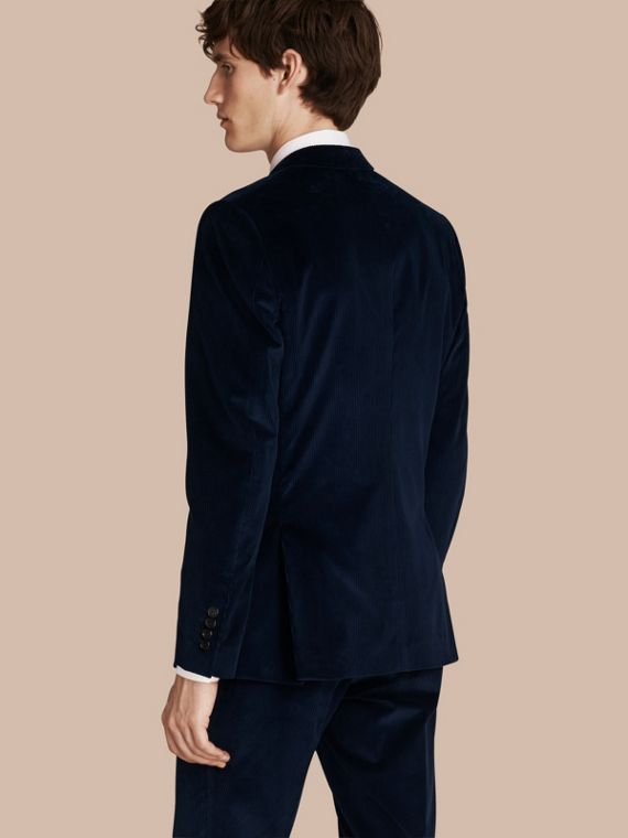 Navy Slim Fit Cotton Corduroy Jacket Navy - cell image 2