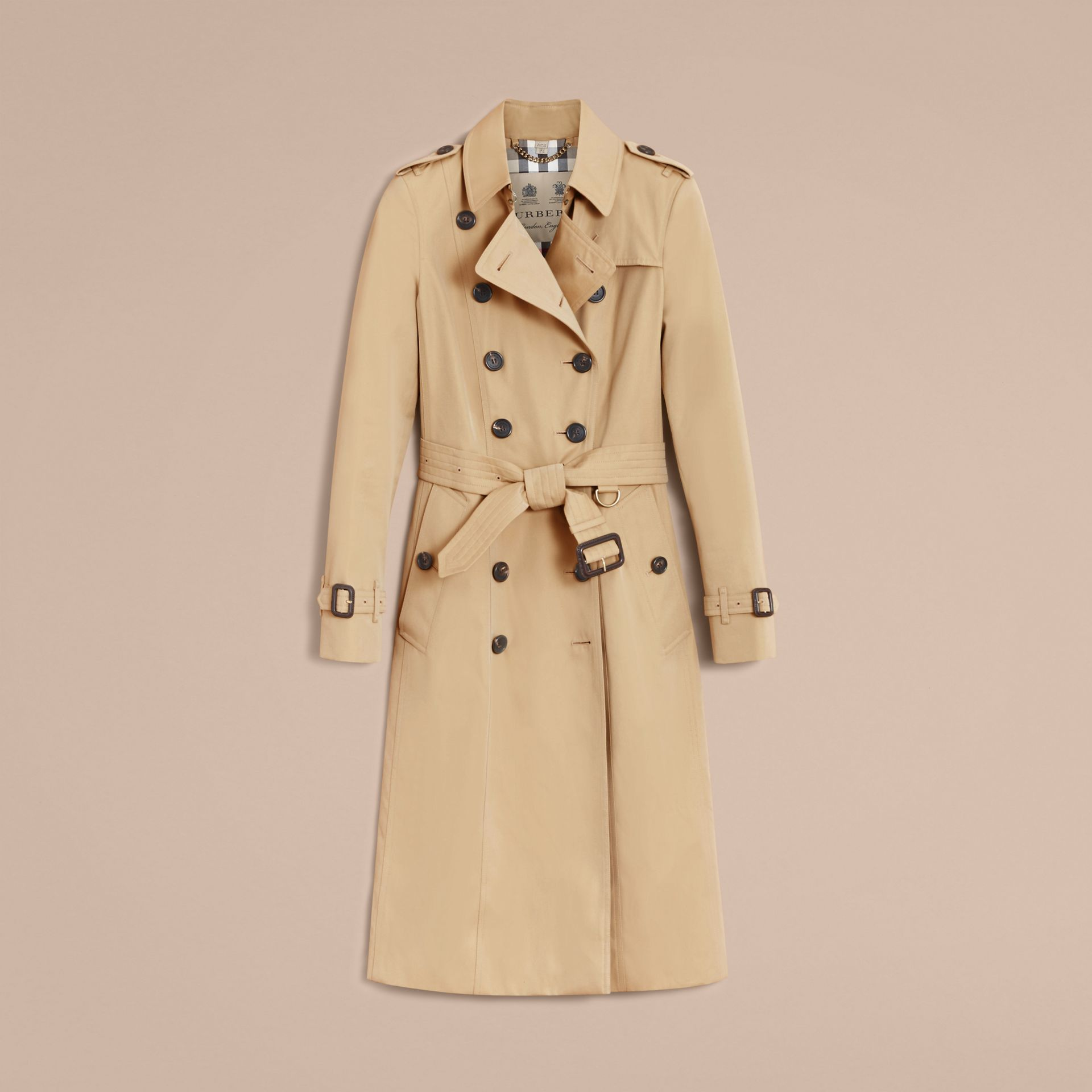 The Chelsea – Extra-long Heritage Trench Coat Honey - gallery image 4