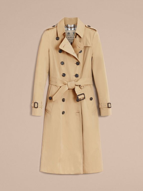 The Chelsea – Extra-long Heritage Trench Coat in Honey - Women | Burberry - cell image 3