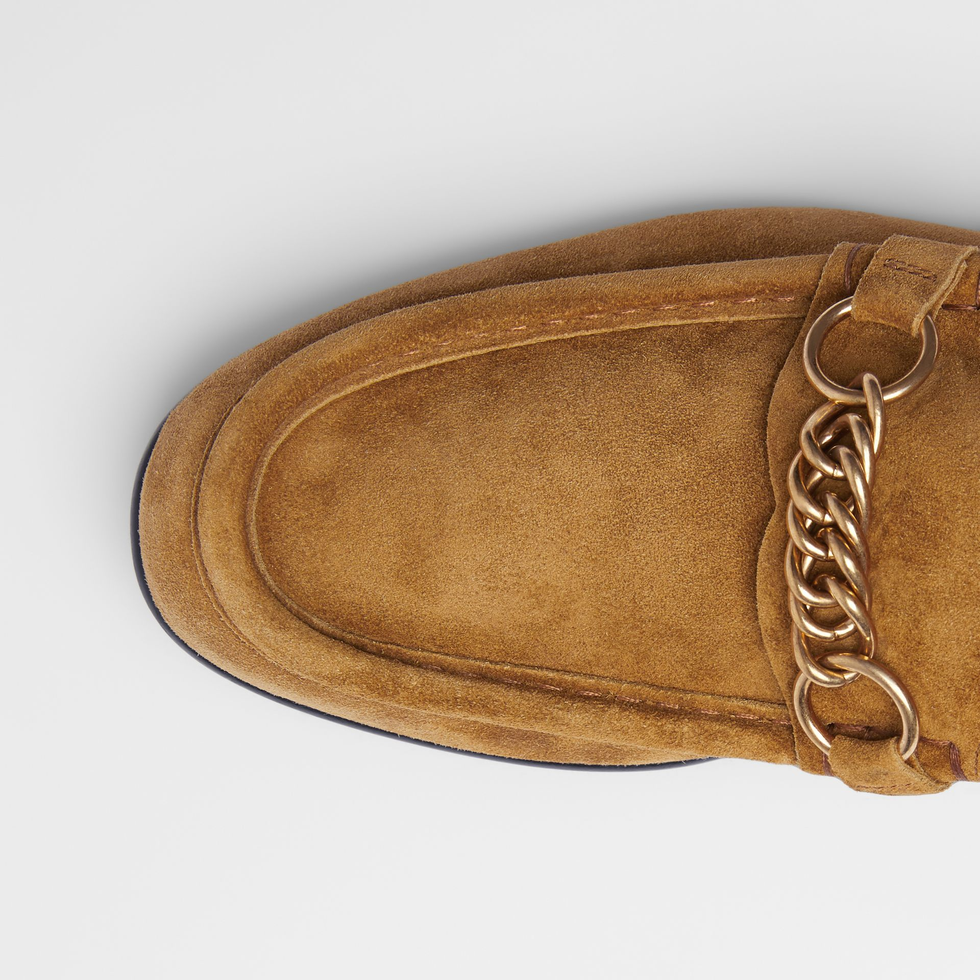 The Suede Link Loafer in Malt Brown - Men | Burberry - gallery image 1