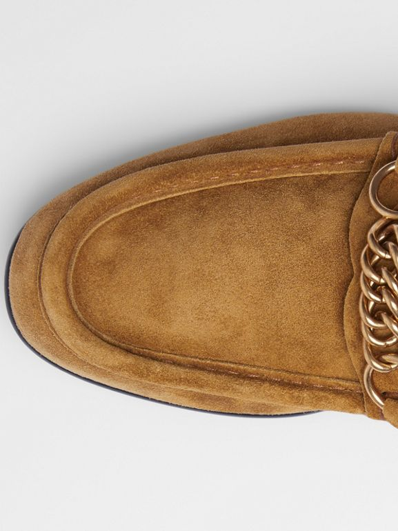 The Suede Link Loafer in Malt Brown - Men | Burberry - cell image 1