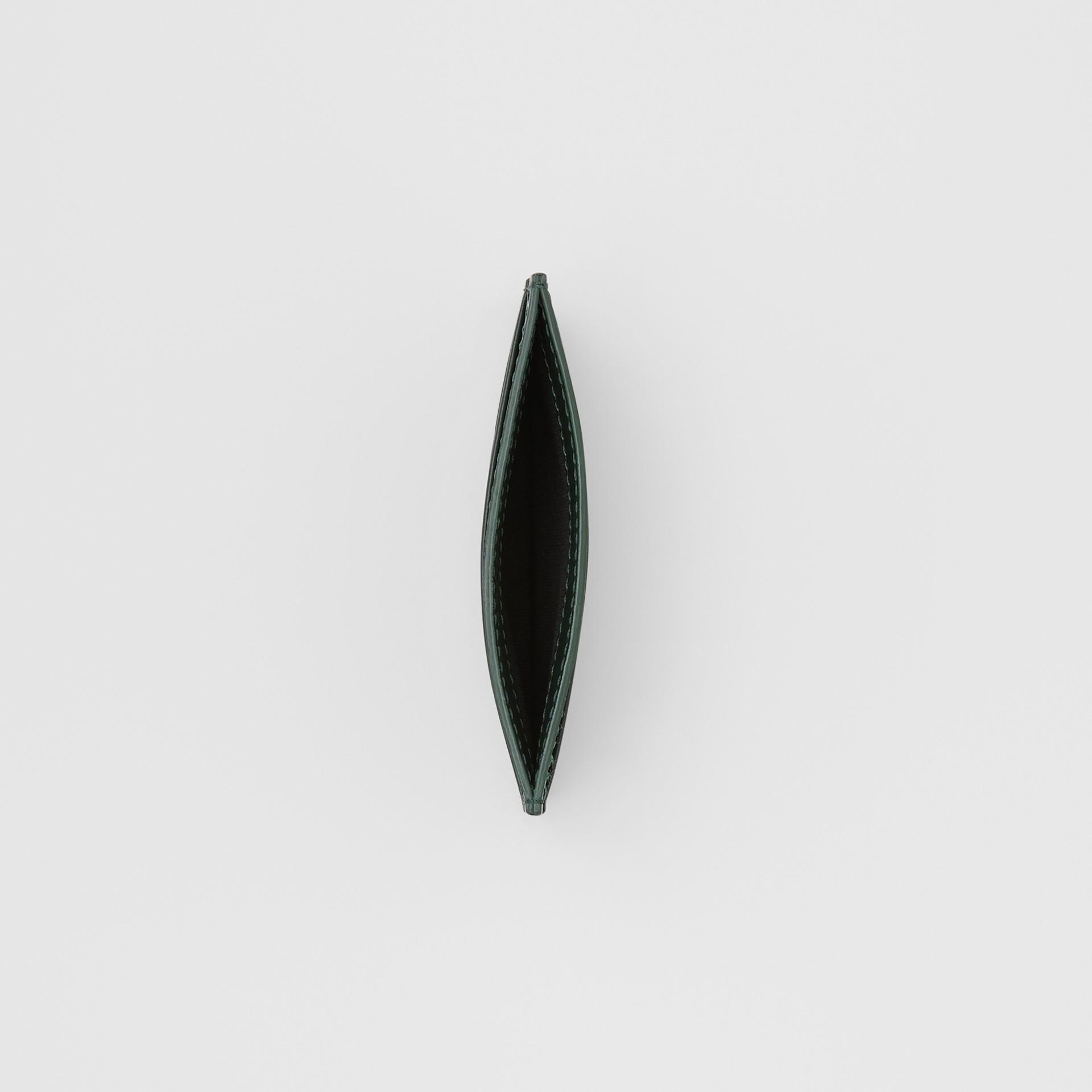 Monogram Leather Card Case in Dark Pine Green - Men   Burberry United Kingdom - gallery image 2