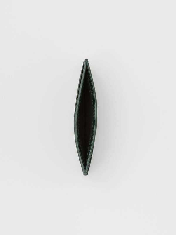 Monogram Leather Card Case in Dark Pine Green - Men   Burberry United Kingdom - cell image 2