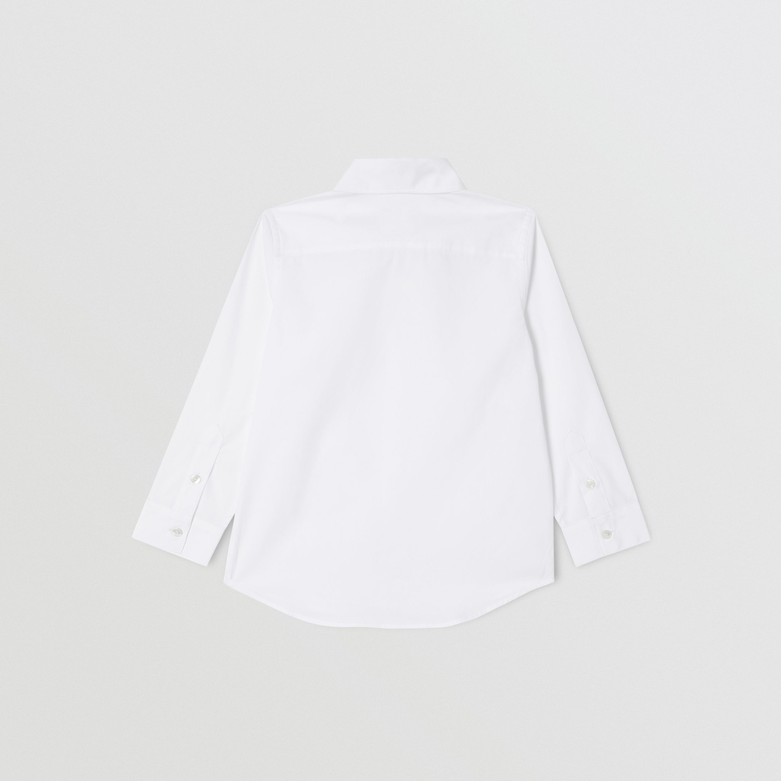 Monogram Motif Stretch Cotton Poplin Shirt | Burberry - 4
