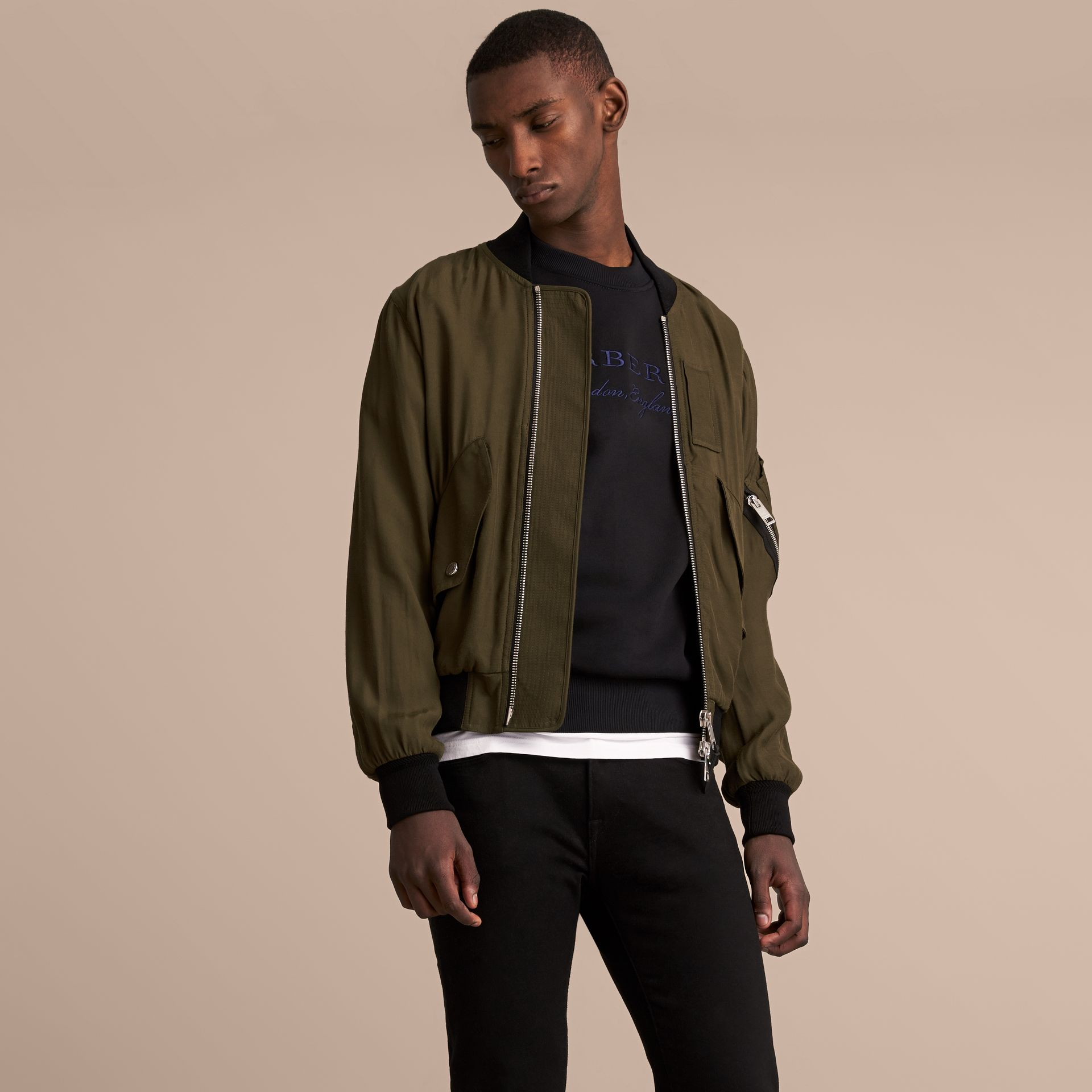 Technical Twill Bomber Jacket - Men | Burberry Australia - gallery image 6