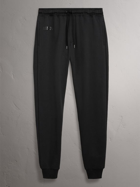 Burberry x Kris Wu Sweatpants in Black - Men | Burberry United Kingdom - cell image 3