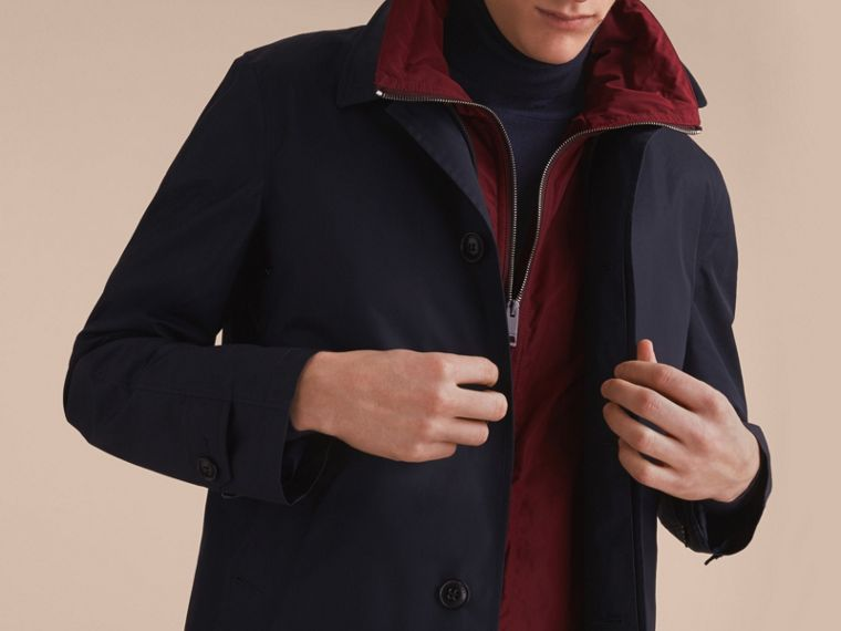 Lightweight Cotton Car Coat with Detachable Gilet Navy - cell image 4