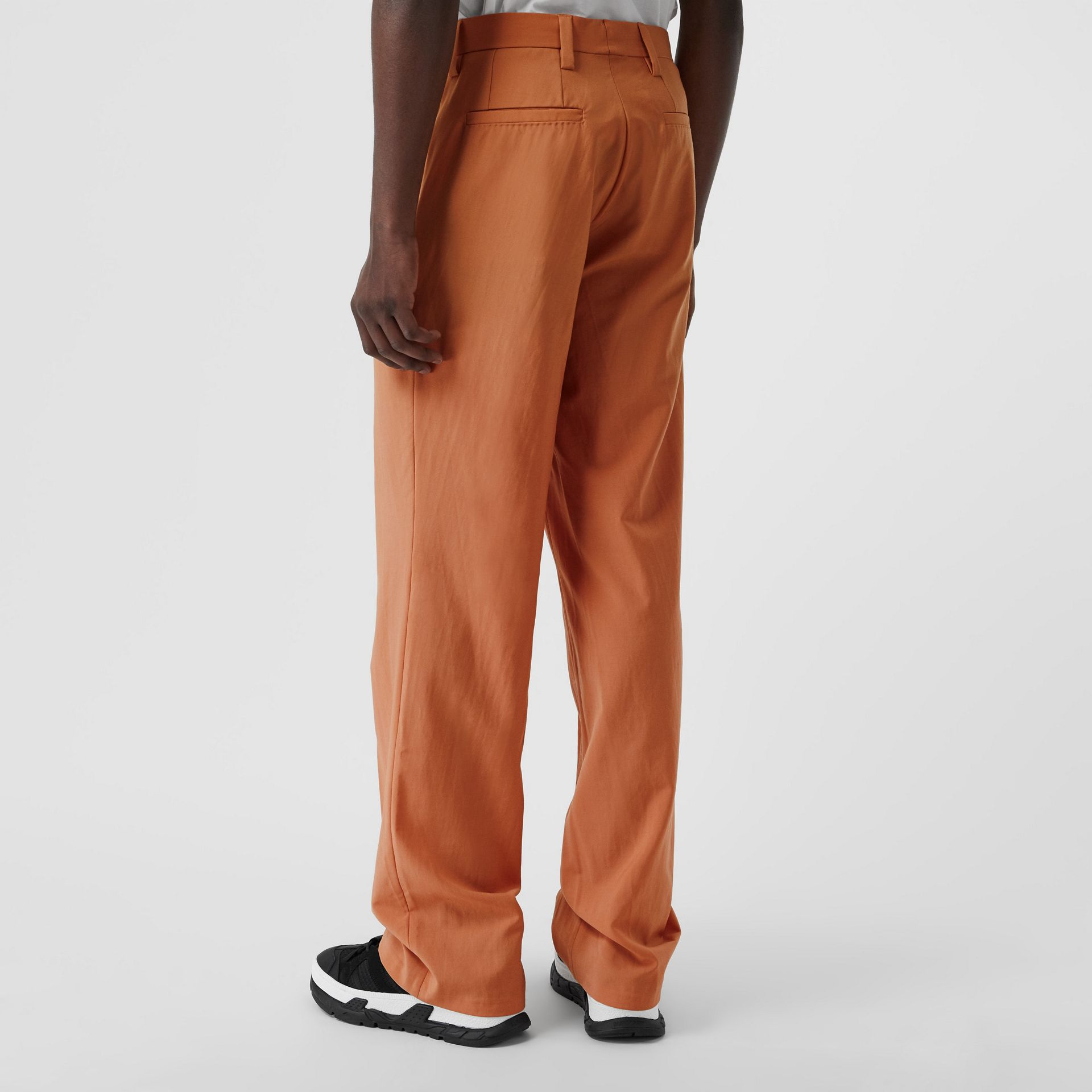 Tumbled Wool Wide-leg Trousers in Orange | Burberry United States - gallery image 2