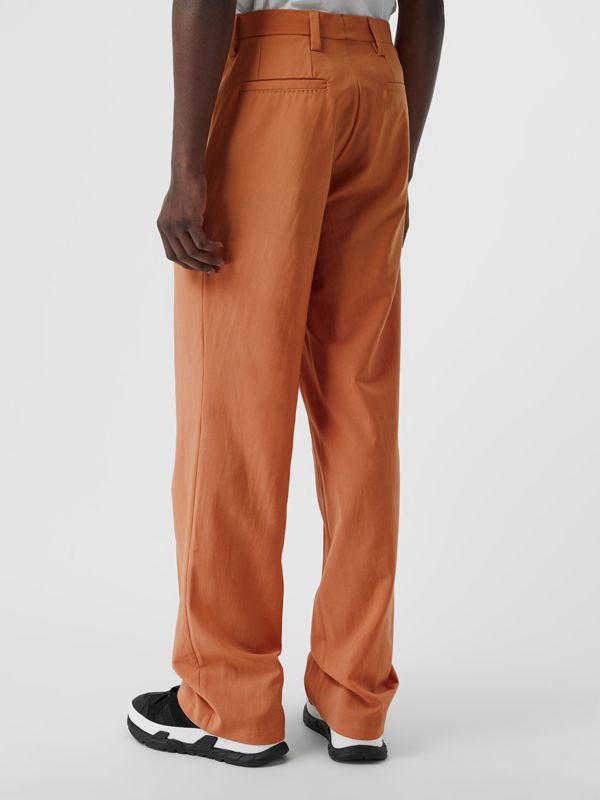 Tumbled Wool Wide-leg Trousers in Orange | Burberry United States - cell image 2