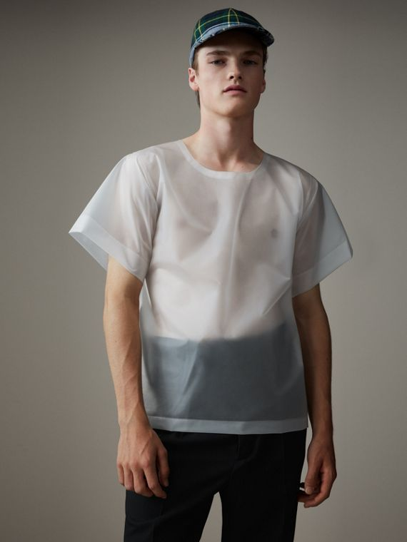 Soft-touch Plastic T-shirt in Transparent