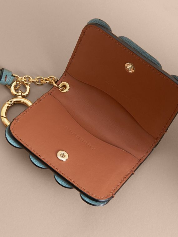 Scalloped Leather Card Case Bright Toffee - cell image 3