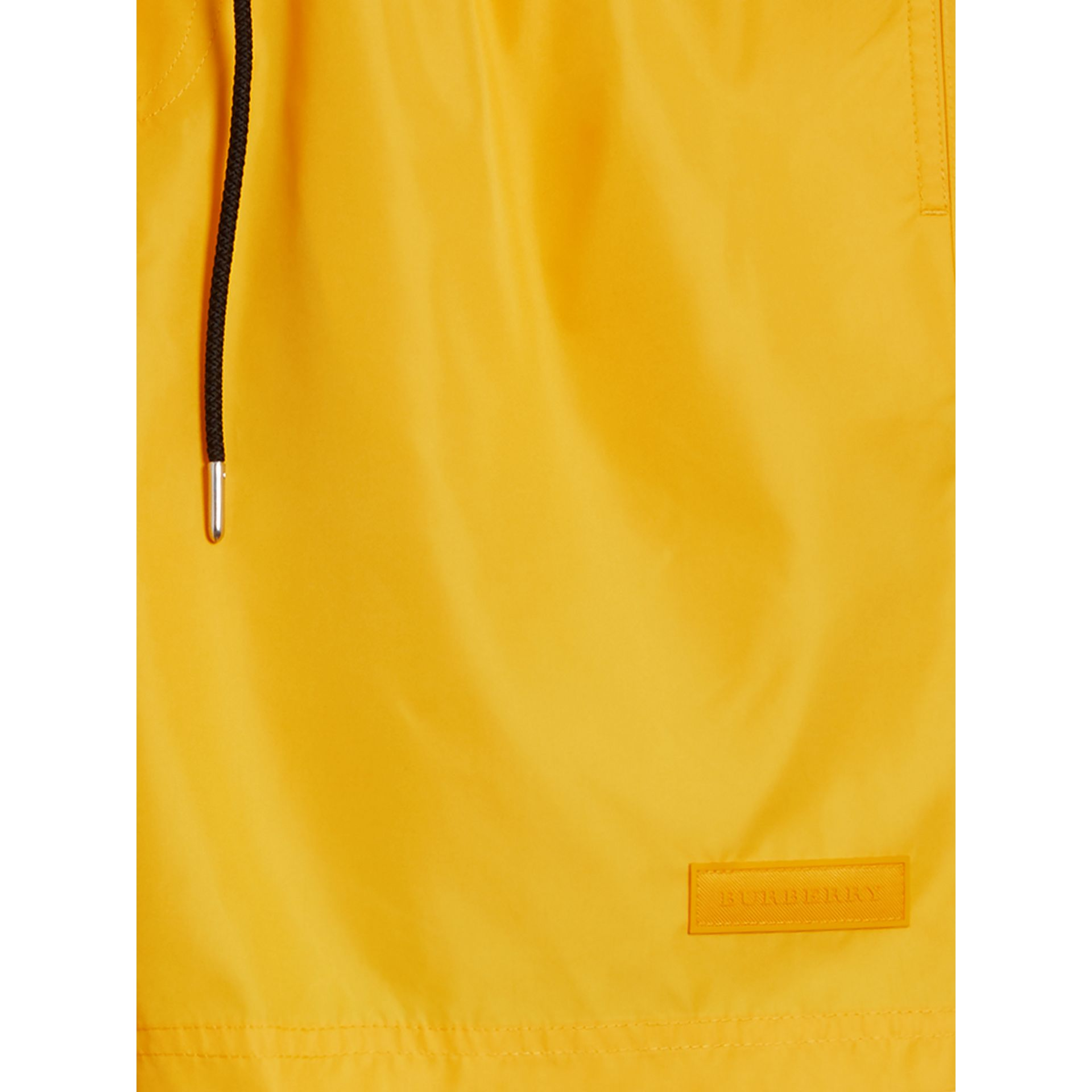 Drawcord Swim Shorts in Bright Yellow - Men | Burberry Australia - gallery image 2
