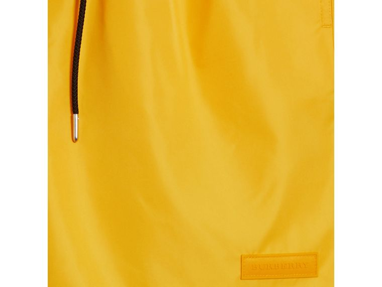 Drawcord Swim Shorts in Bright Yellow - Men | Burberry Australia - cell image 1