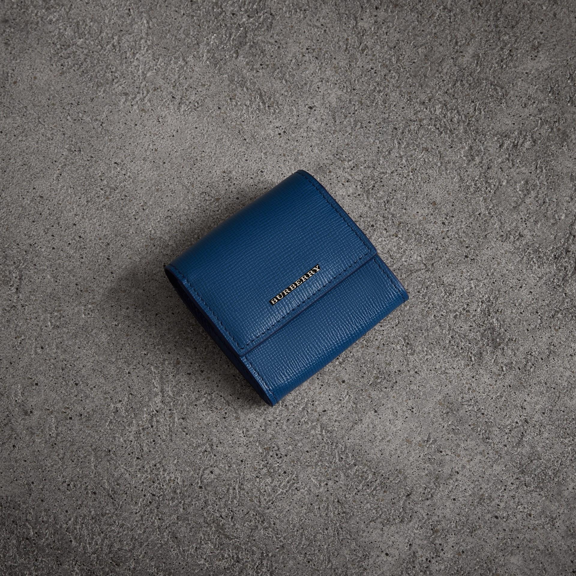 Portamonete in pelle London (Blu Bruno) - Uomo | Burberry - immagine della galleria 0