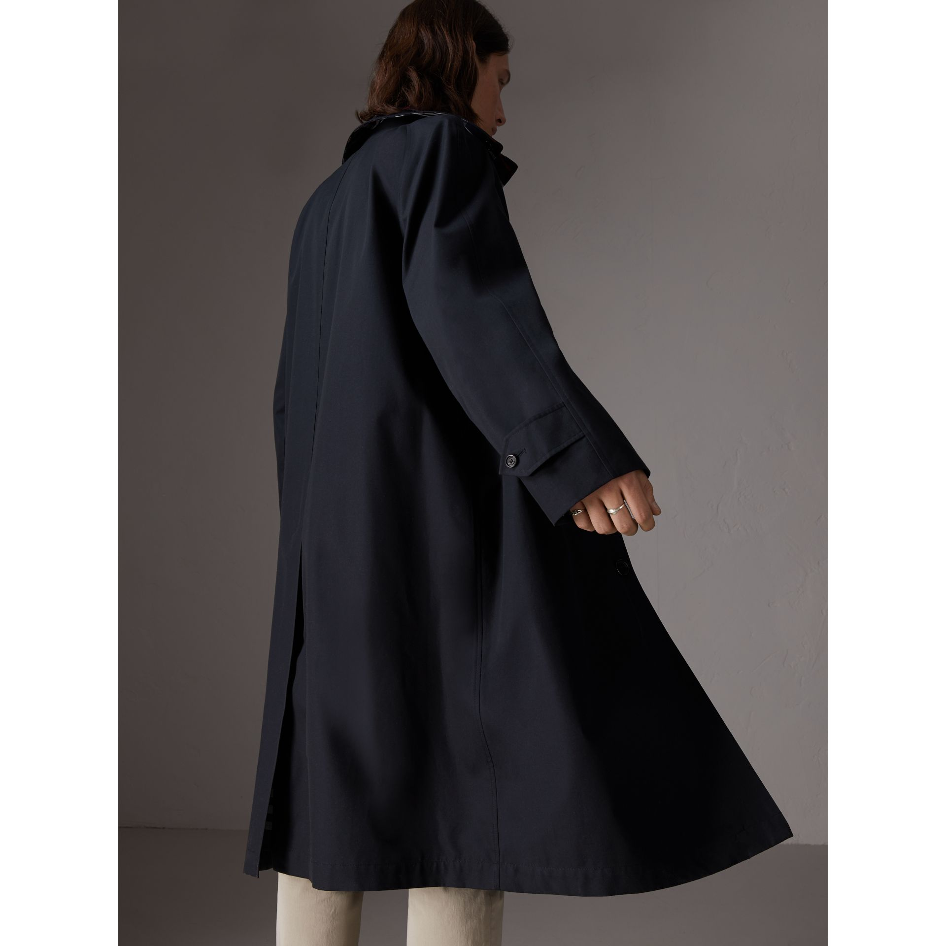 Gosha x Burberry Reconstructed Car Coat in Navy - Men | Burberry - gallery image 6