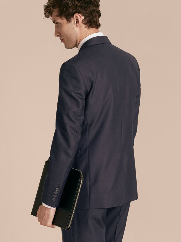 Modern Fit Wool Part-canvas Jacket in Navy - Men | Burberry United States - cell image 2