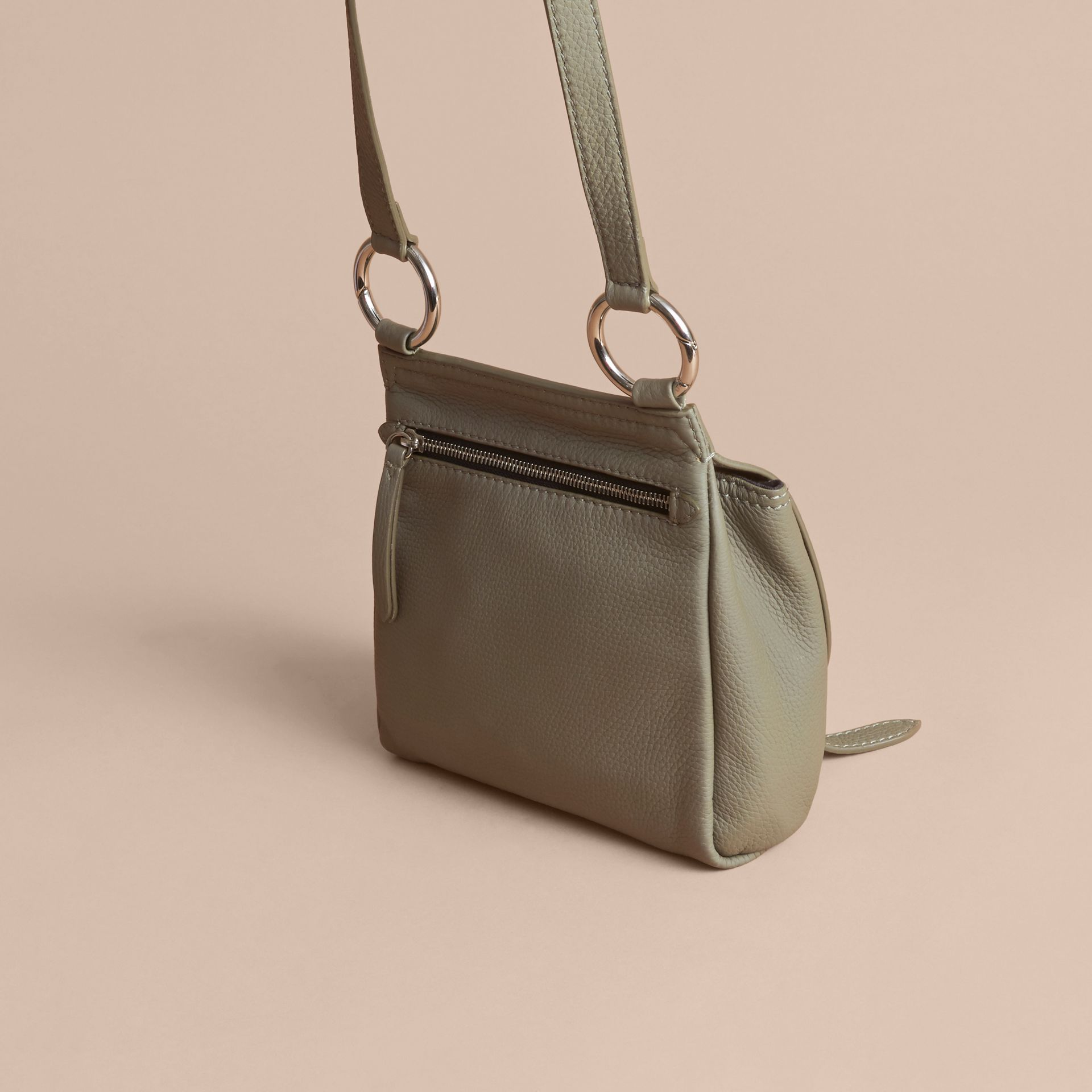 The Bridle Crossbody Bag in Deerskin in Slate Green - Women | Burberry Australia - gallery image 4
