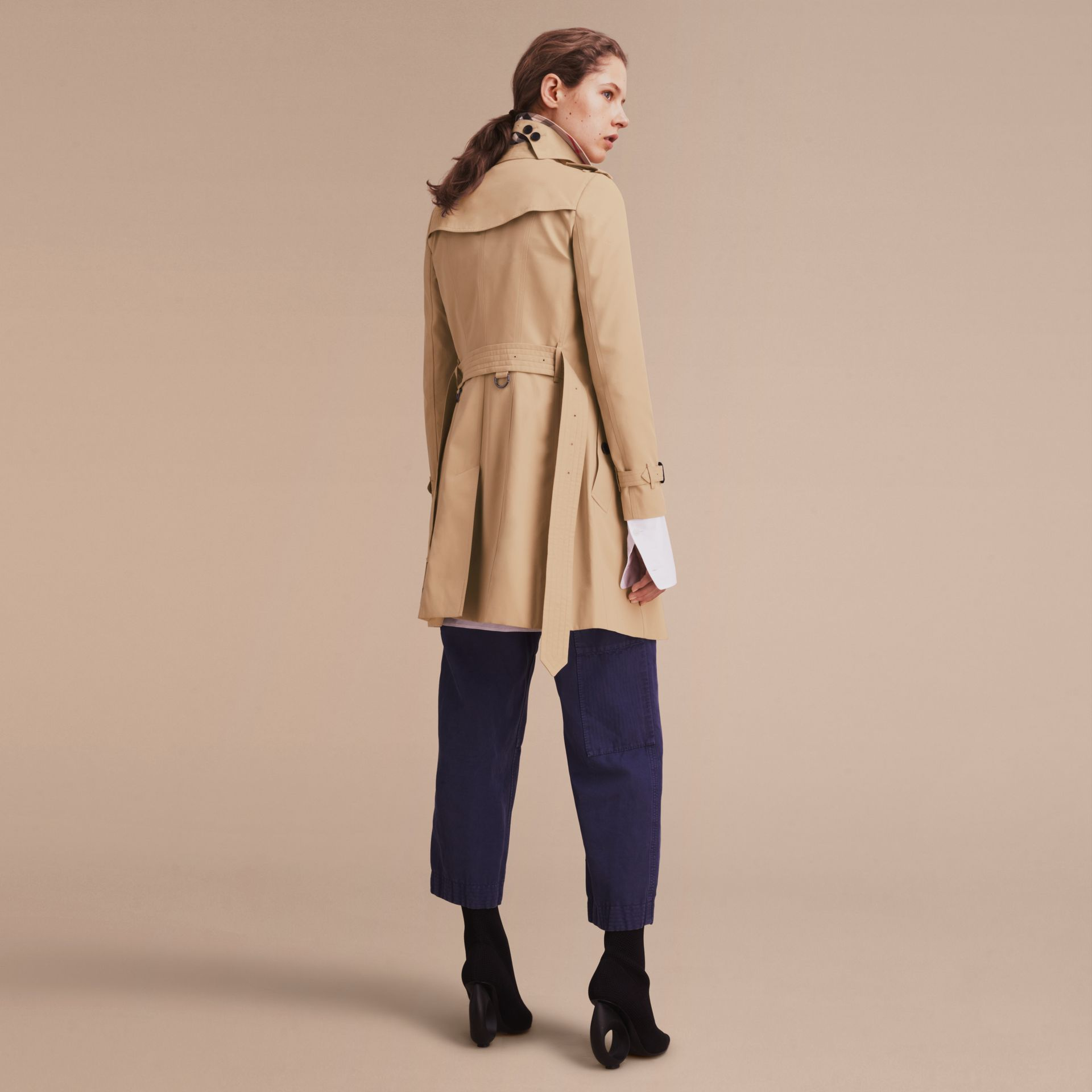 Honey The Chelsea – Mid-length Heritage Trench Coat Honey - gallery image 4