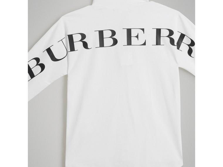 Haut à col roulé en coton extensible avec logo imprimé (Blanc) - Garçon | Burberry Canada - cell image 4
