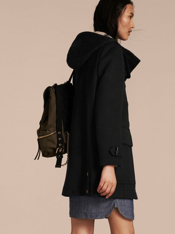 Black Straight Fit Duffle Coat Black - cell image 2