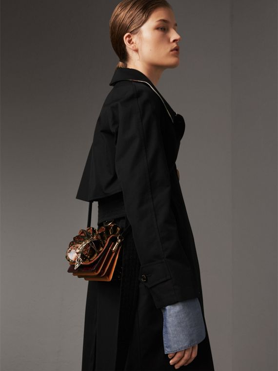 The Ruffle Buckle Bag aus Natternleder und Kalbfell (Rotholzfarben) - Damen | Burberry - cell image 3
