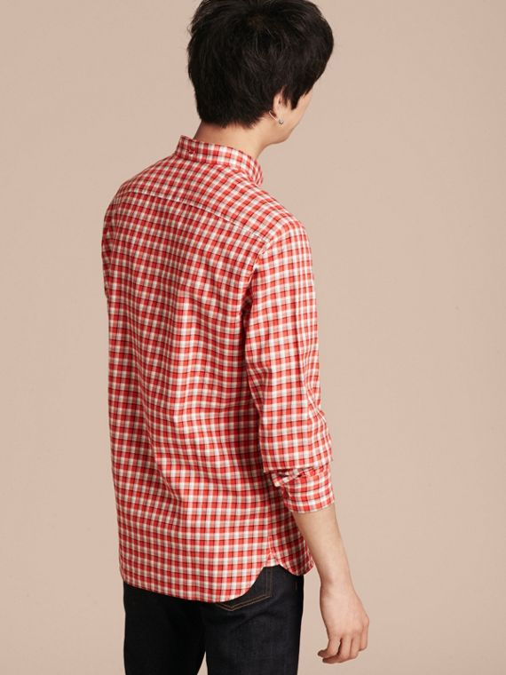 Parade red Gingham Check Cotton Twill Shirt Parade Red - cell image 2