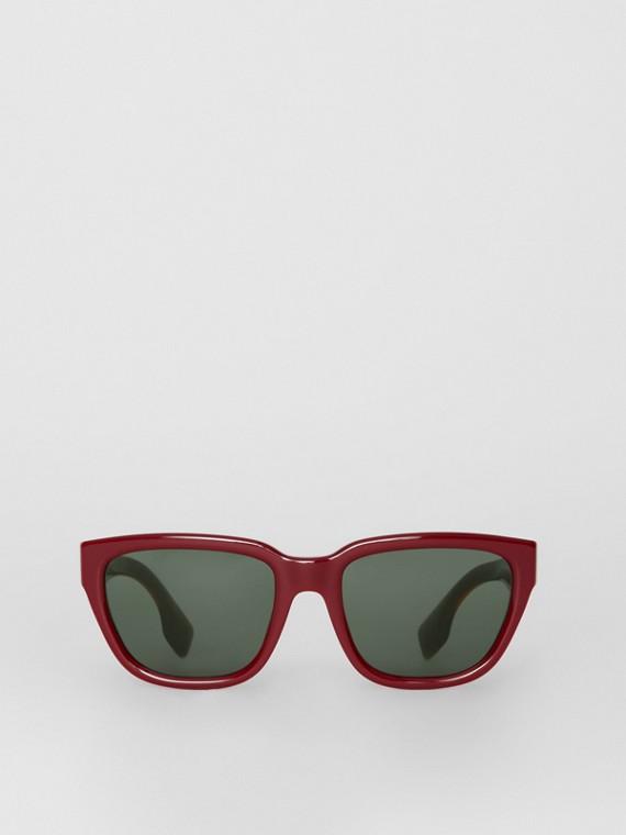 Eckige Sonnenbrille (Burgunderrot)