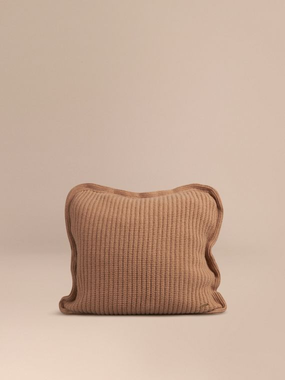 Knitted Cashmere Cushion Cover Camel
