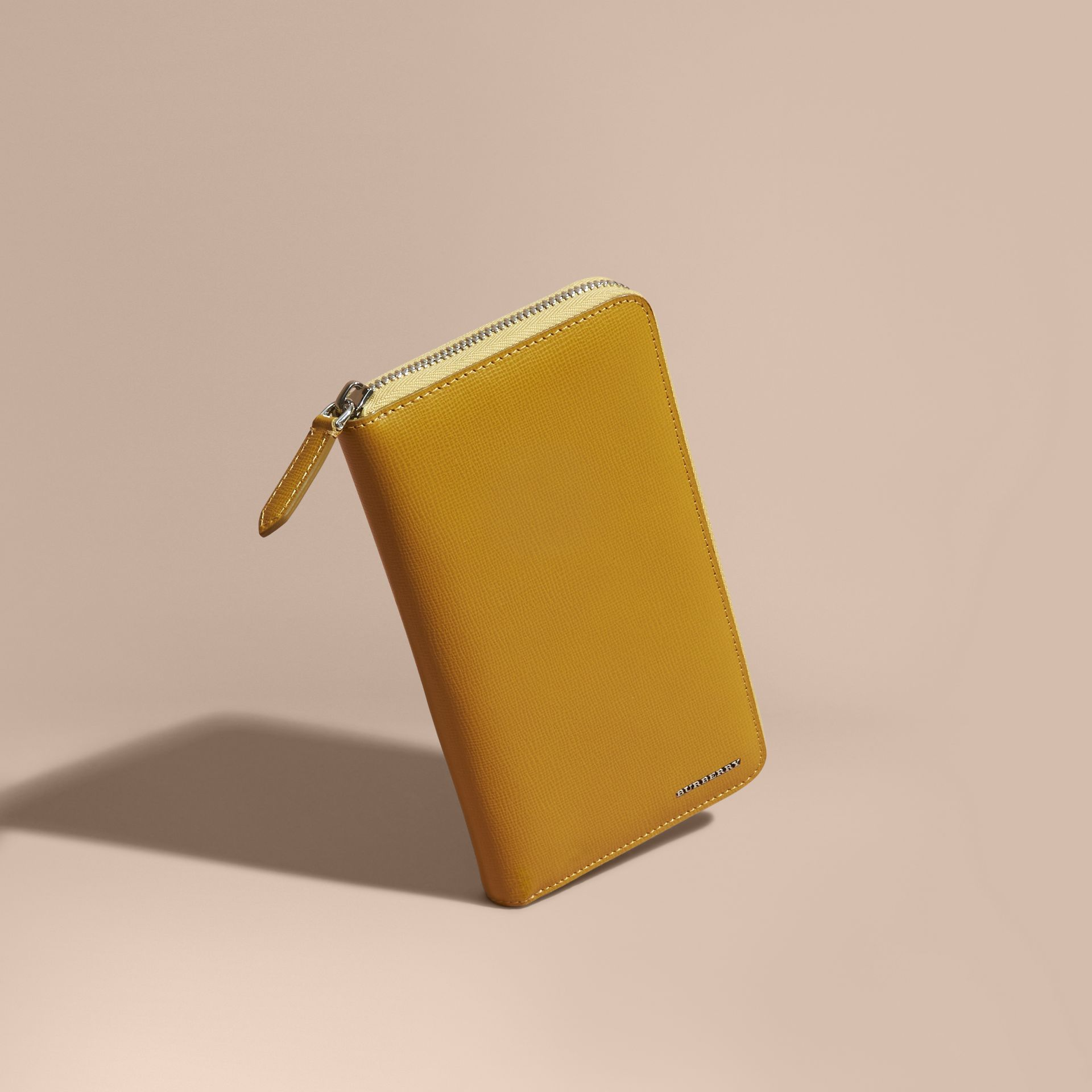 London Leather Ziparound Wallet in Larch Yellow - gallery image 1
