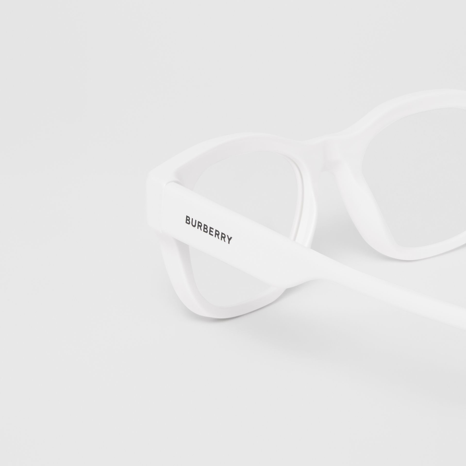 Square Optical Frames in White - Men | Burberry Hong Kong - gallery image 1
