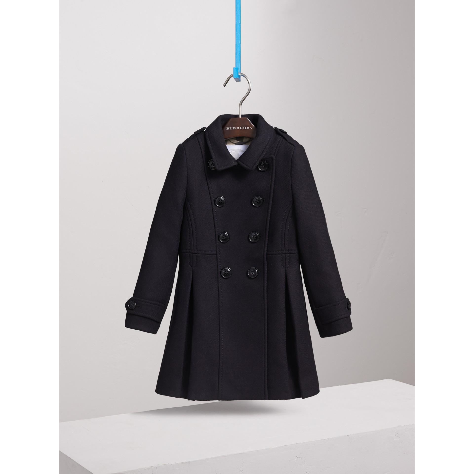 Zweireihiger Mantel aus Wolle, Kaschmir und technischer Faser (Marineblau) - Mädchen | Burberry - Galerie-Bild 3
