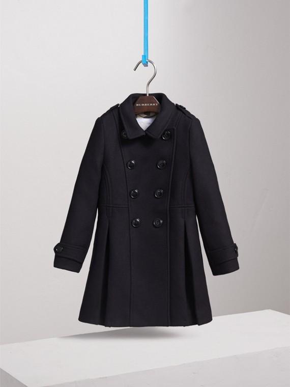 Zweireihiger Mantel aus Wolle, Kaschmir und technischer Faser (Marineblau) - Mädchen | Burberry - cell image 2
