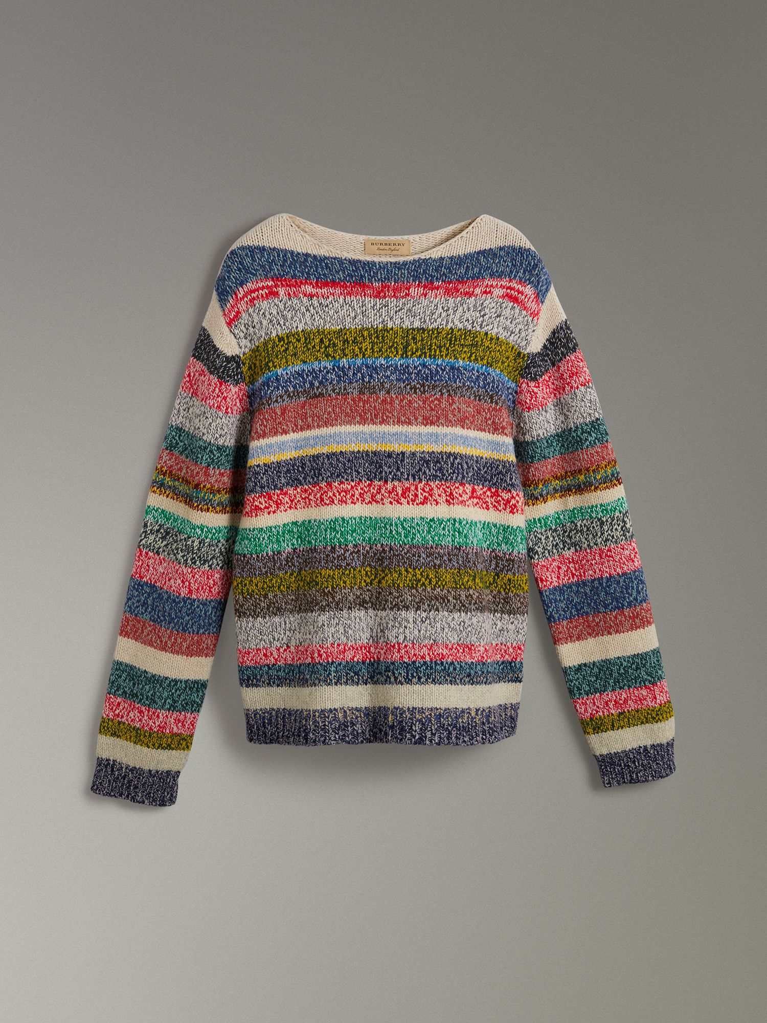 Striped Merino Wool Mouliné Sweater in Multicolour