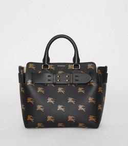Petit sac The Belt en cuir avec emblème du Cavalier (Noir) 2b55b37658f