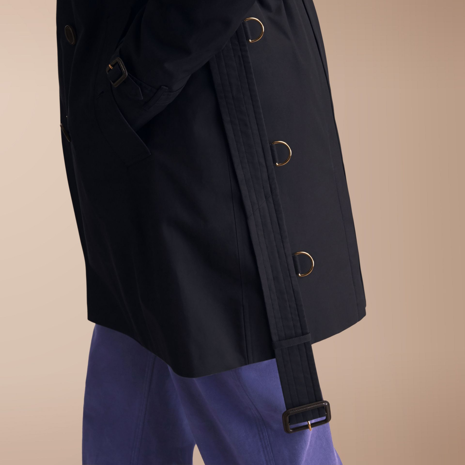 The Sandringham – Long Heritage Trench Coat in Navy - gallery image 7
