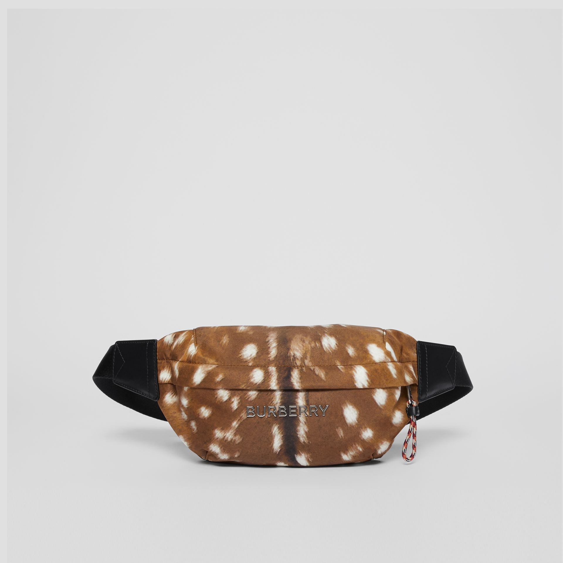 Medium Deer Print Bum Bag in Tan/white | Burberry Singapore - gallery image 0