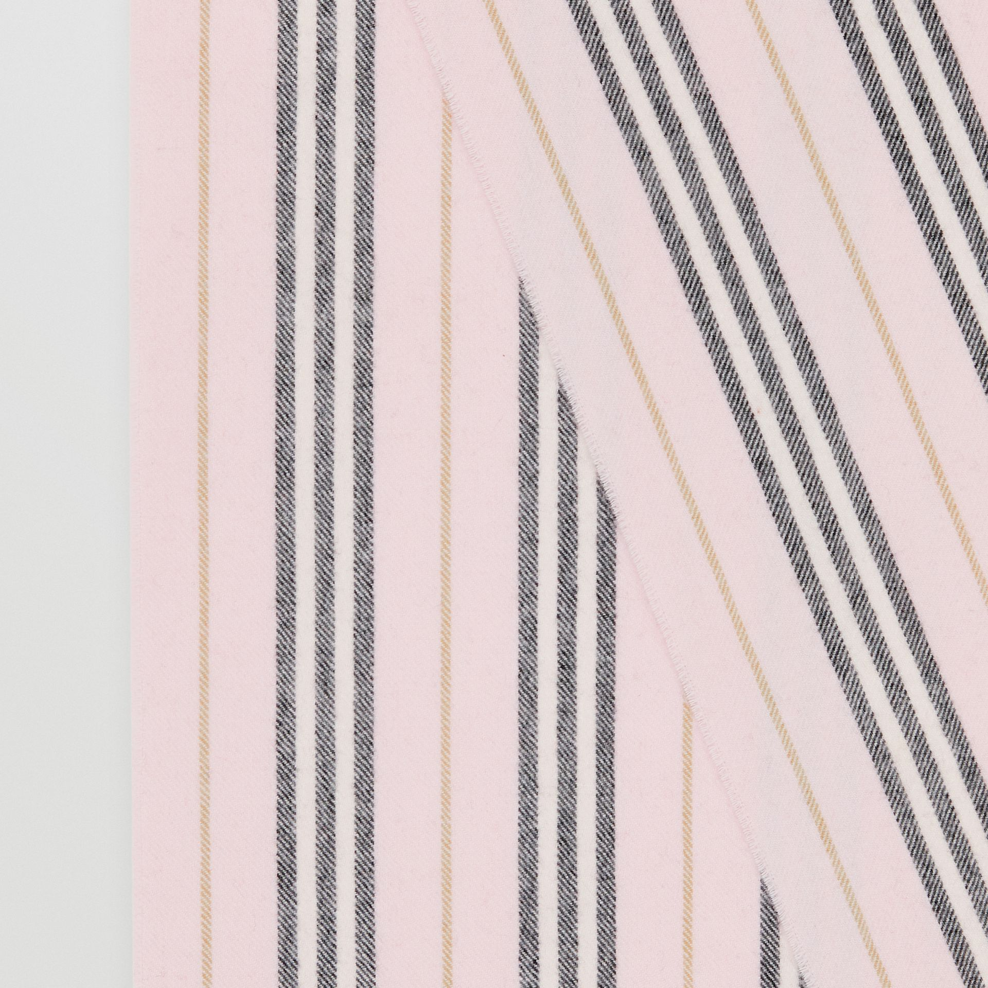 Icon Stripe Cashmere Scarf in Alabaster | Burberry - gallery image 1