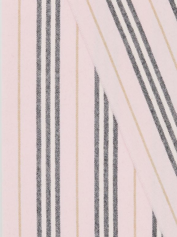 Icon Stripe Cashmere Scarf in Alabaster | Burberry - cell image 1