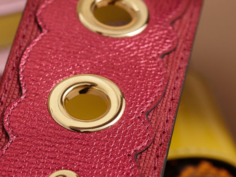 The Small Buckle Bag in House Check and Leather Bright Pink - cell image 4
