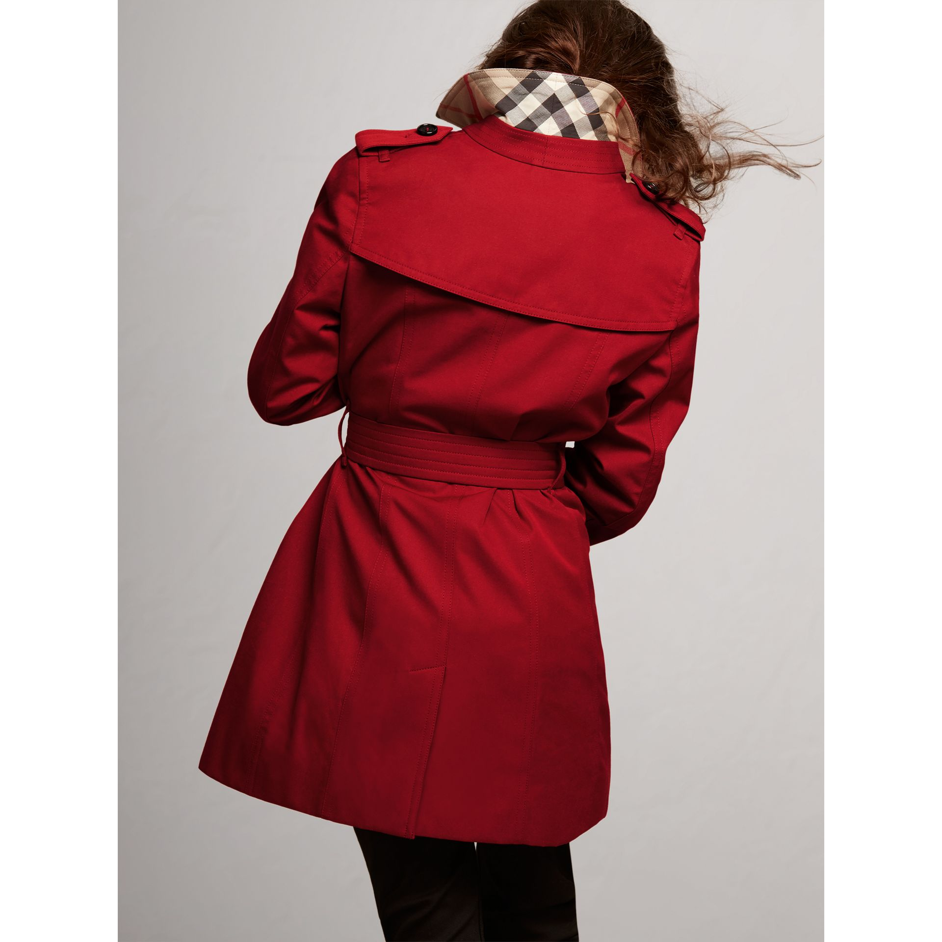 The Sandringham Trench Coat in Parade Red - Girl | Burberry Australia - gallery image 3