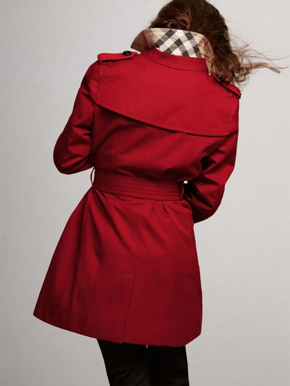 The Sandringham Trench Coat in Parade Red - Girl | Burberry Australia - cell image 3