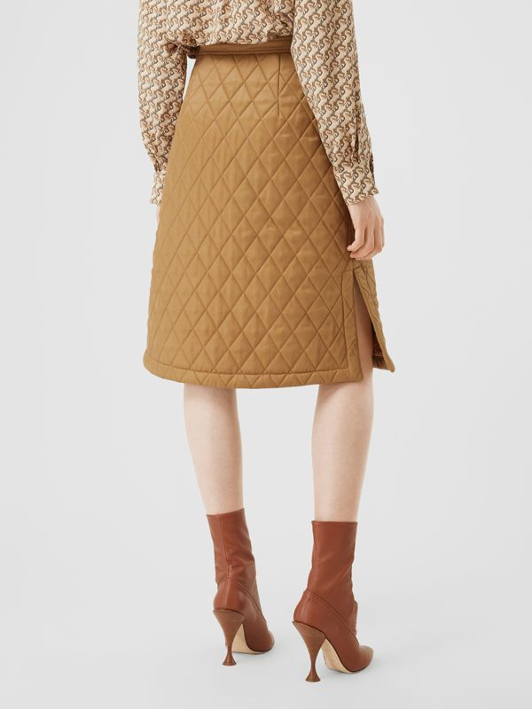 Diamond Quilted Twill A-line Skirt in Camel | Burberry United Kingdom - cell image 2