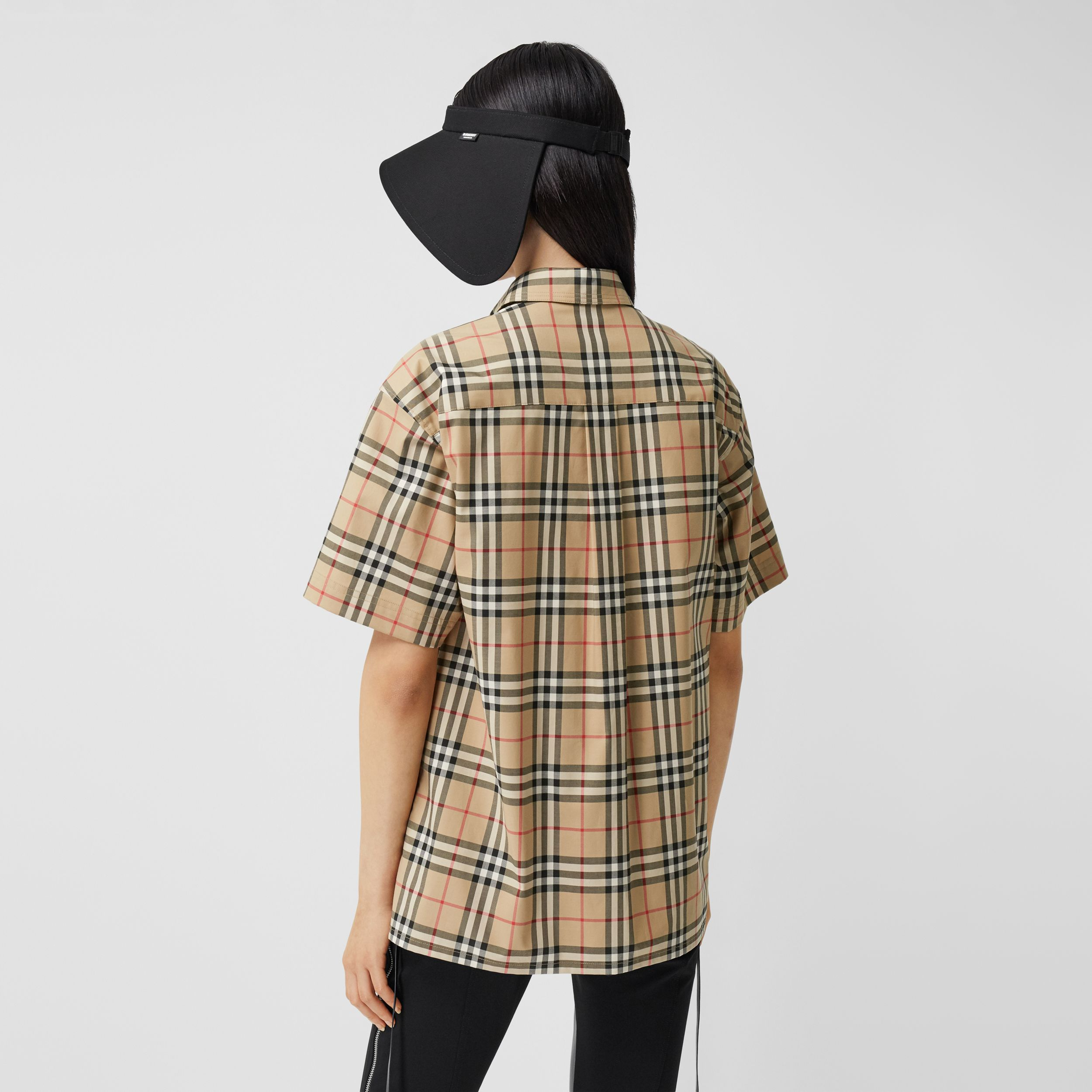 Zebra Appliqué Vintage Check Cotton Twill Shirt - Women | Burberry - 3