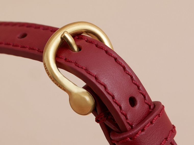 Two-tone Trench Leather Belt Blossom Pink/ Antique Red - cell image 1