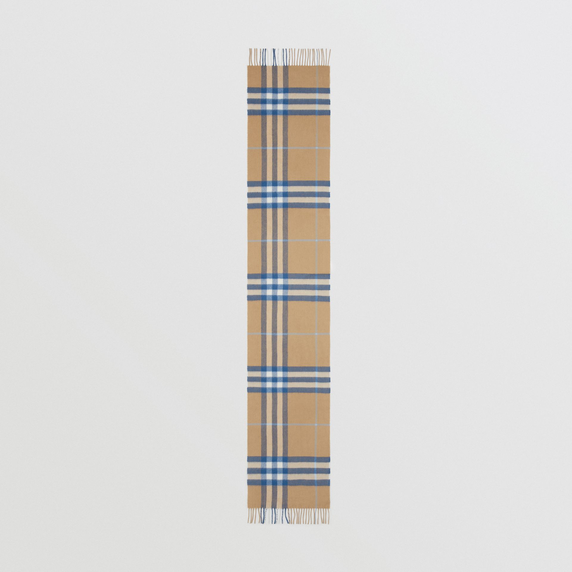 The Classic Check Cashmere Scarf in Arc Beige/inky Blue | Burberry United States - gallery image 5