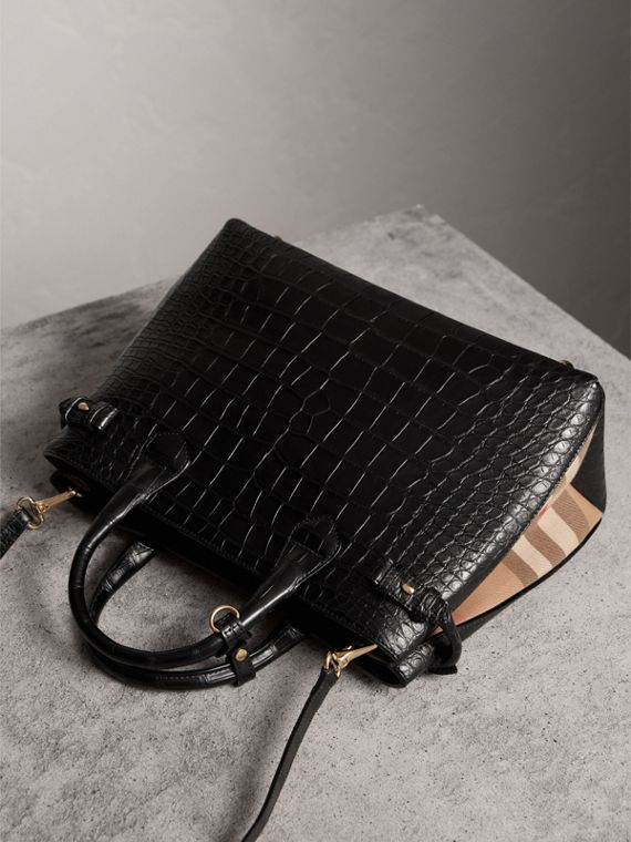 Sac The Banner medium en alligator - Femme | Burberry - cell image 3